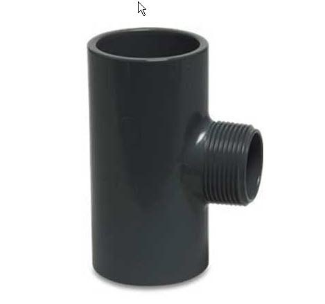 PVC-T-Stück mit Gewinde bei FITTINGE-SHOP