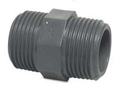 PVC-Doppelnippel AG bei FITTINGE-SHOP
