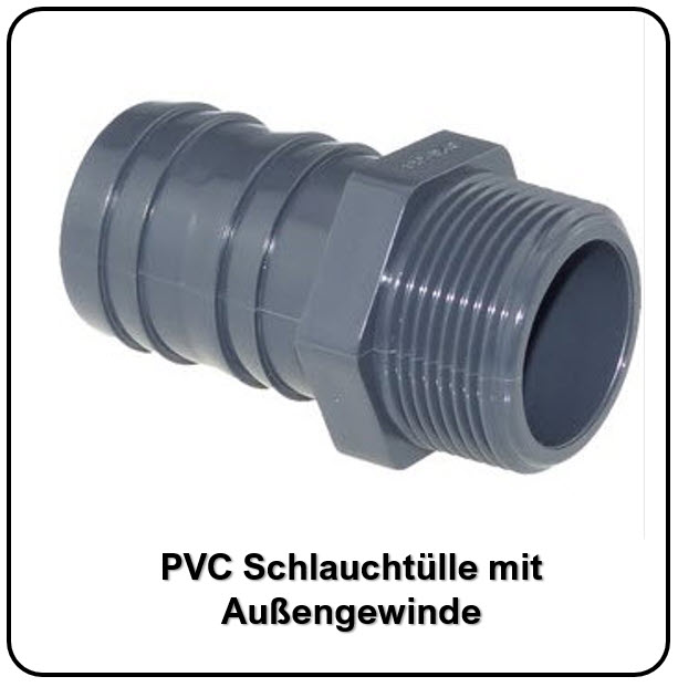 PVC-Schlauchtülle mit AG bei FITTINGE-SHOP