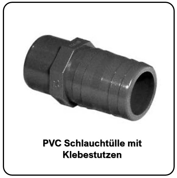 PVC-Schlauchtülle mit KM bei FITTINGE-SHOP